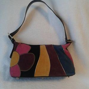 Sharif vintage hobo bag suede hippy boho patchwork